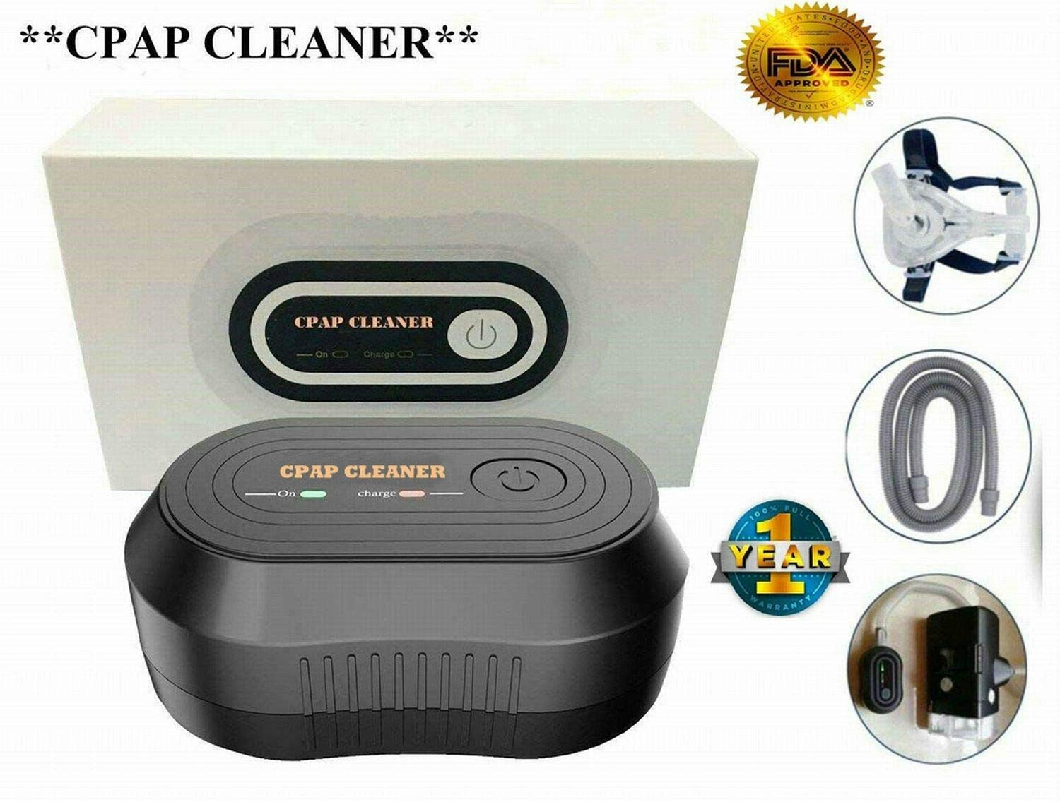 HONEWIN Portable Mini CPAP Cleaner Disinfector CPAP Air Tubes Clean