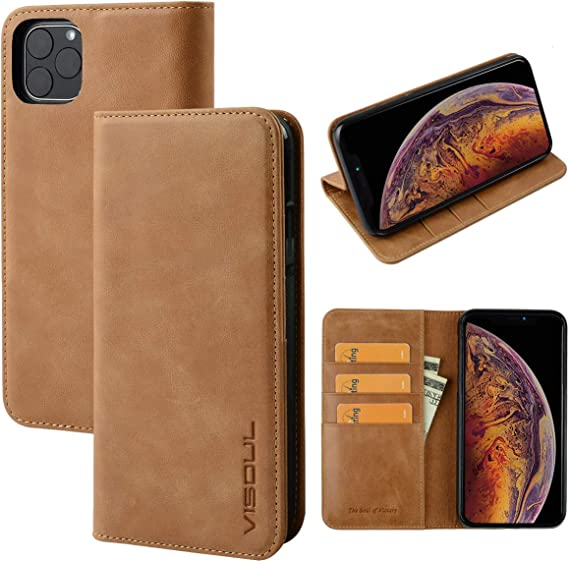 SINIANL Case for iPhone 11//11 Pro//11 Pro Max Leather Folio Flip Cover with Kickstand and Credit Slots
