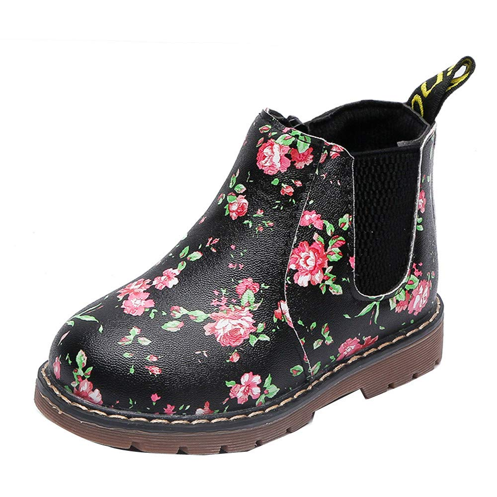 Autumn Winter Fashion Boys Girls Floral Martin Sneaker,Outsta Winter Boots Thick Snow Baby Casual Shoes Sneakers