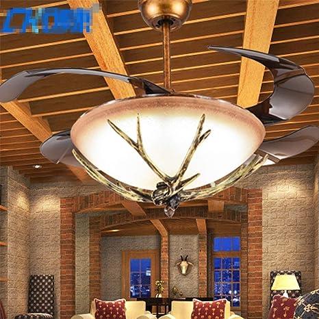 ChuanHan Ventilador de Techo Lámparas de Iluminación de Luces ...