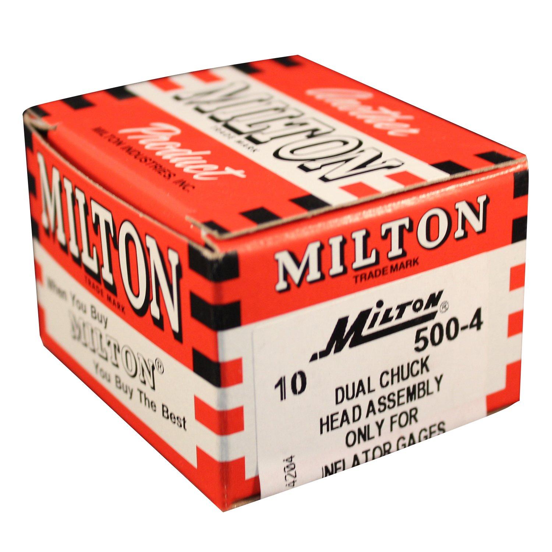 Milton 500-4 1//8-27 NPT Dual Air Chuck Head Replacement Box of 10