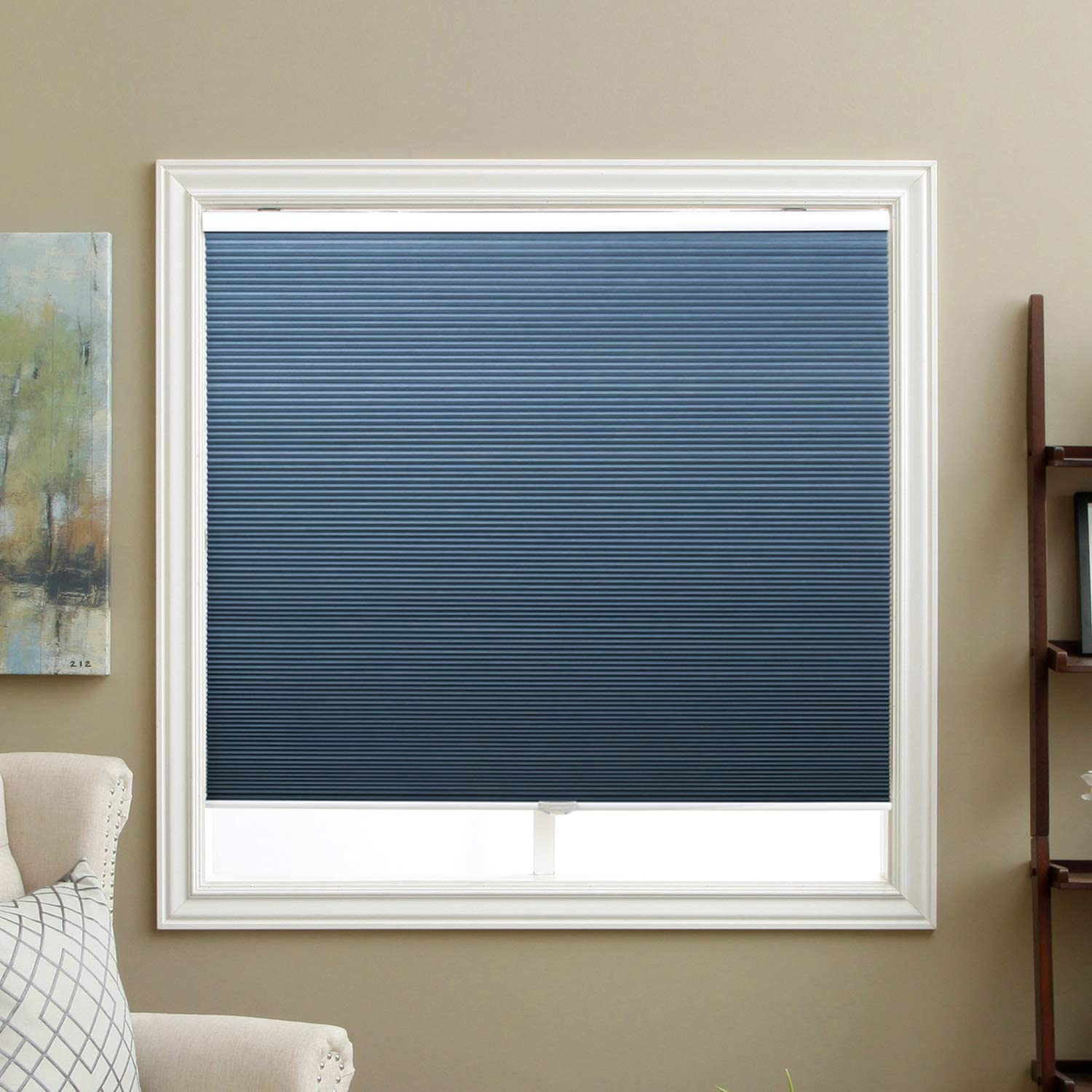 SBARTAR Blinds for Windows, Blackout Window Blinds and Shades for Home Bedroom Nursery, 28 inch Wide x 38 inch Long, Ocean Blue(Blackout)