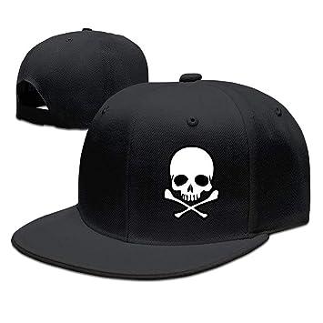 Jxrodekz Unisex Cabeza cráneo con Sombrero de Gorras de béisbol de ...