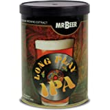 Mr. Beer Long Play IPA 2 Gallon Homebrewing Craft Beer Making Refill Kit with Sanitizer, Yeast and All Grain Brewing Extract