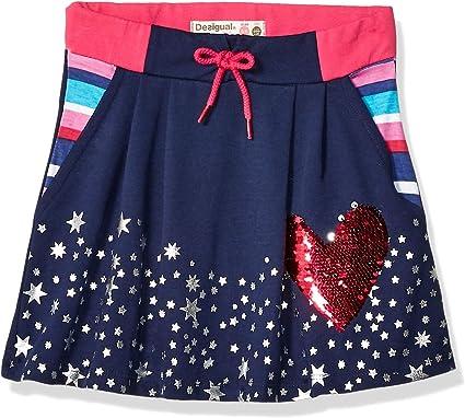 Desigual Girl Knit Skirt Short (Fal_grevalosa) Falda para Niñas ...