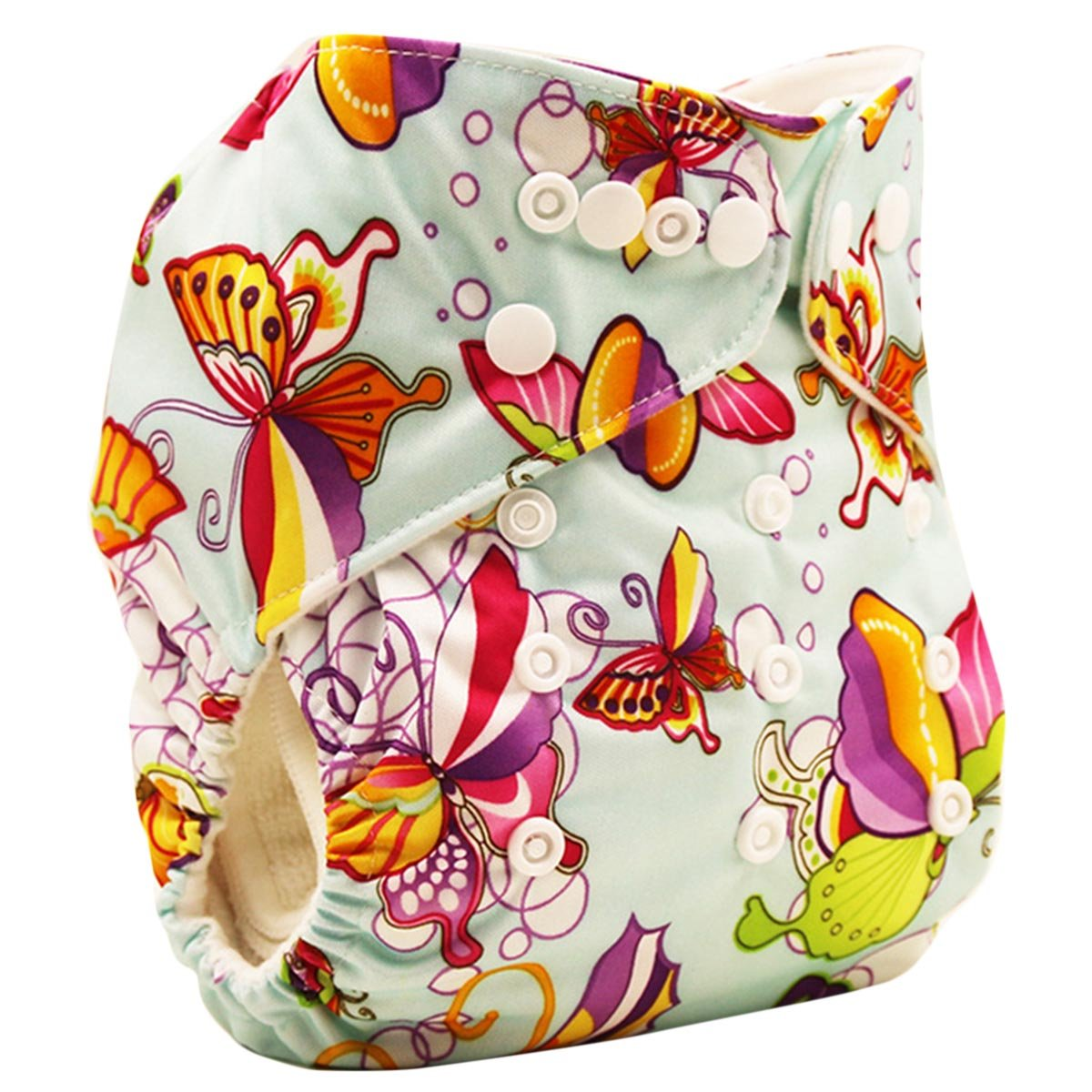 Happy Cherry Baby One Size Cloth Diaper Cover Snap for Prefolds, Camouflage YH10BK1432