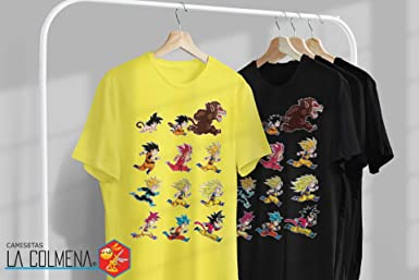 Camisetas La Colmena-4003-Dragon Ball-Evolutions of Goku(albertocubatas): Amazon.es: Ropa y accesorios