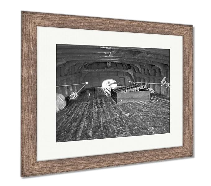Amazon.com: Ashley Framed Prints Caravel Inside, Wall Art ...