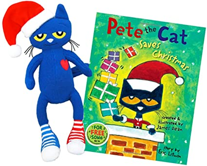 pete the cat saves christmas plush doll book set - Pete The Cat Saves Christmas