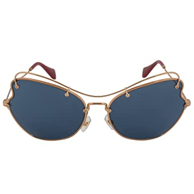 c3f26f3f21 Image Unavailable. Image not available for. Color  MIU MIU Sunglasses MU  56RS 7OE1V1 Antique Gold 65MM