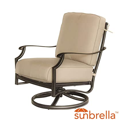 Genial Carondelet Cast Aluminum Patio Swivel Rocker Club Chair W/ Sunbrella  Spectrum Sand Cushion By Lakeview