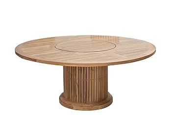 Premium Table en bois rond en bois de teck/Diamètre : 160 cm/pour ...