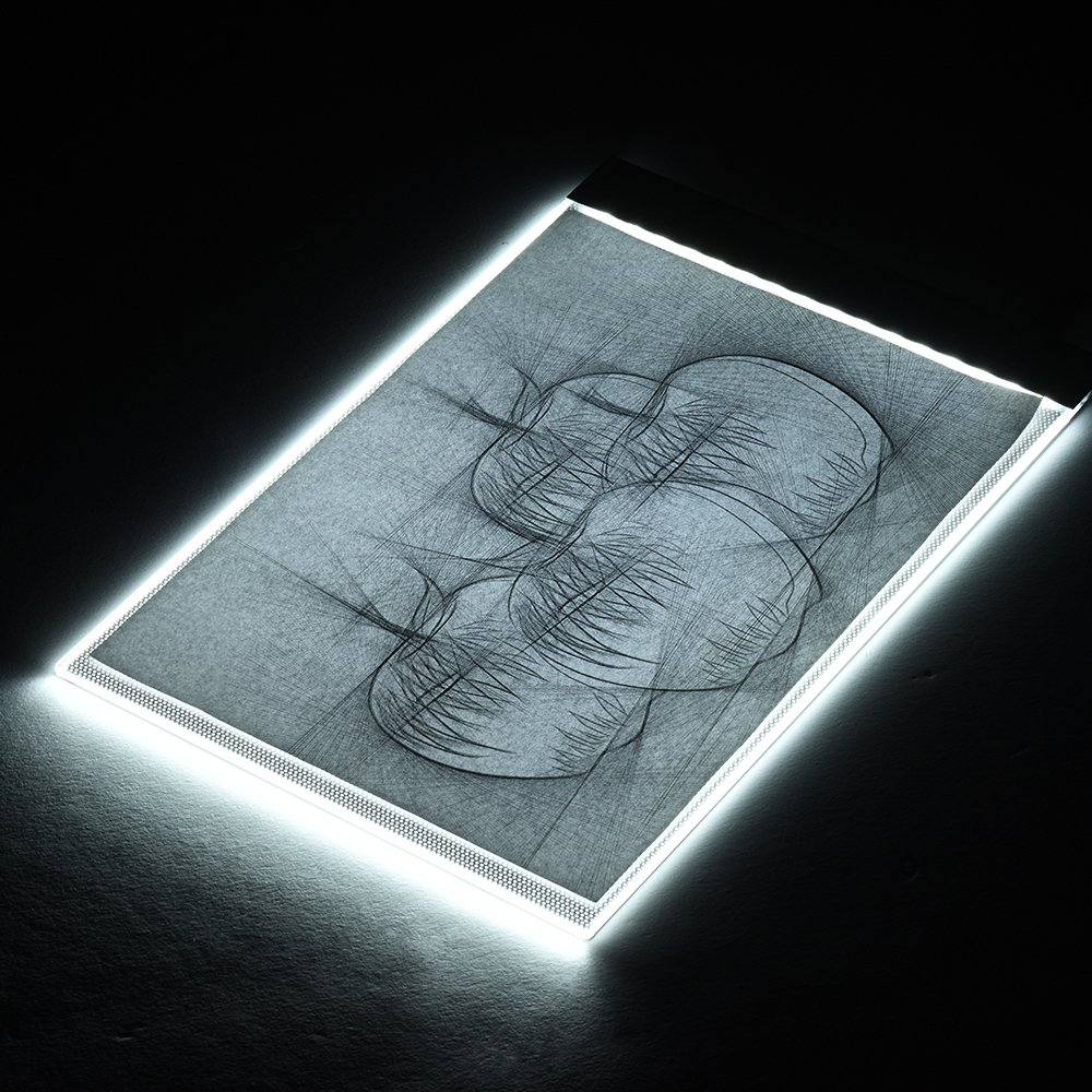 A4 Size Ultra-thin LED Light Pad Box Painting Tracing Panel Copyboard USB Powered Stepless Adjustable Brightness for Cartoon Tattoo Tracing Pencil Drawing