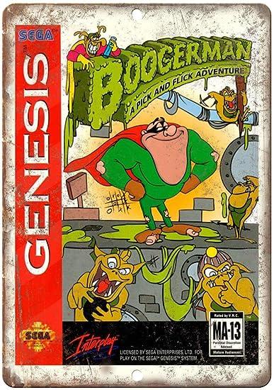 Sega Genesis Boogerman Interplay - Cartel metálico de ...