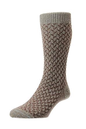 0c70713fe4f Pantherella Heysham Honeycomb Texture Wool Socks - Oatmeal 6-9 UK Oatmeal