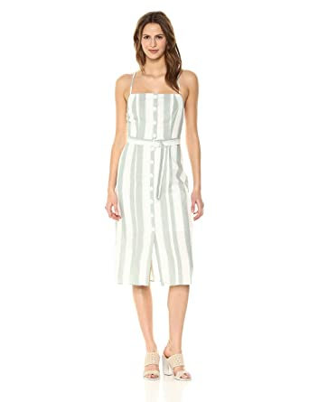 63b8457e186 The Fifth Label Women s Poetic Stripe Belted Midi Dress at Amazon Women s  Clothing store