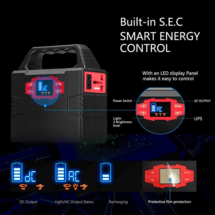 COOLIS Portable Power Generator with an LED display panel makes it easy to control