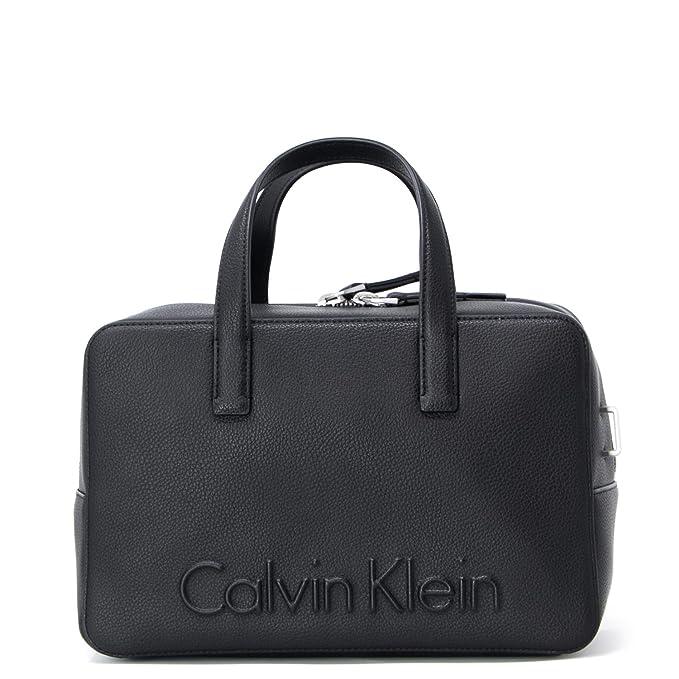 Calvin Klein Edge Duffle Donna Handbag Nero  Amazon.it  Abbigliamento cb29370f142