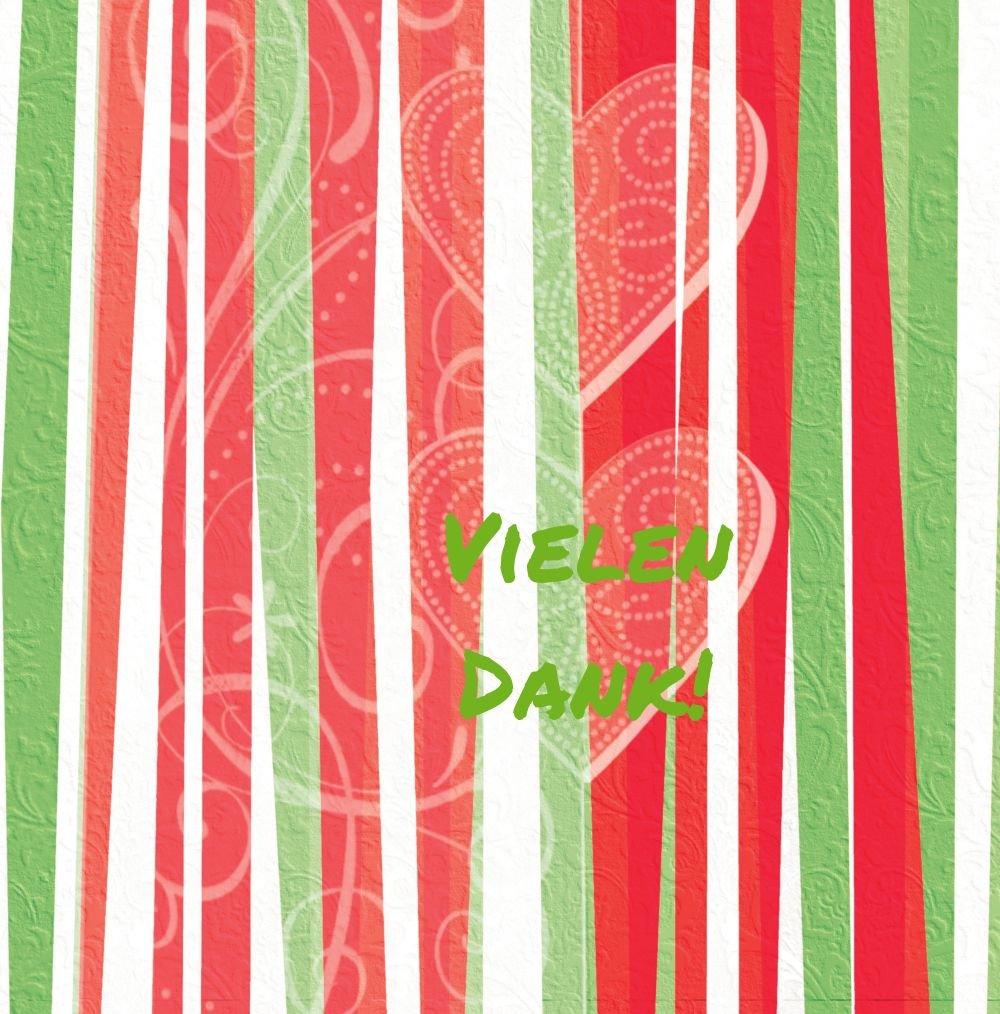 Kartenparadies Danksagung für Geburt Baby Dankeskarte hearts and stripes, stripes, stripes, hochwertige Danksagungskarte Baby inklusive Umschläge   100 Karten - (Format  145x145 mm) Farbe  Grasgruen B01MRBYLM0 | Genial  | Spielzeugwelt, glücklich und grenzenlos 90369f
