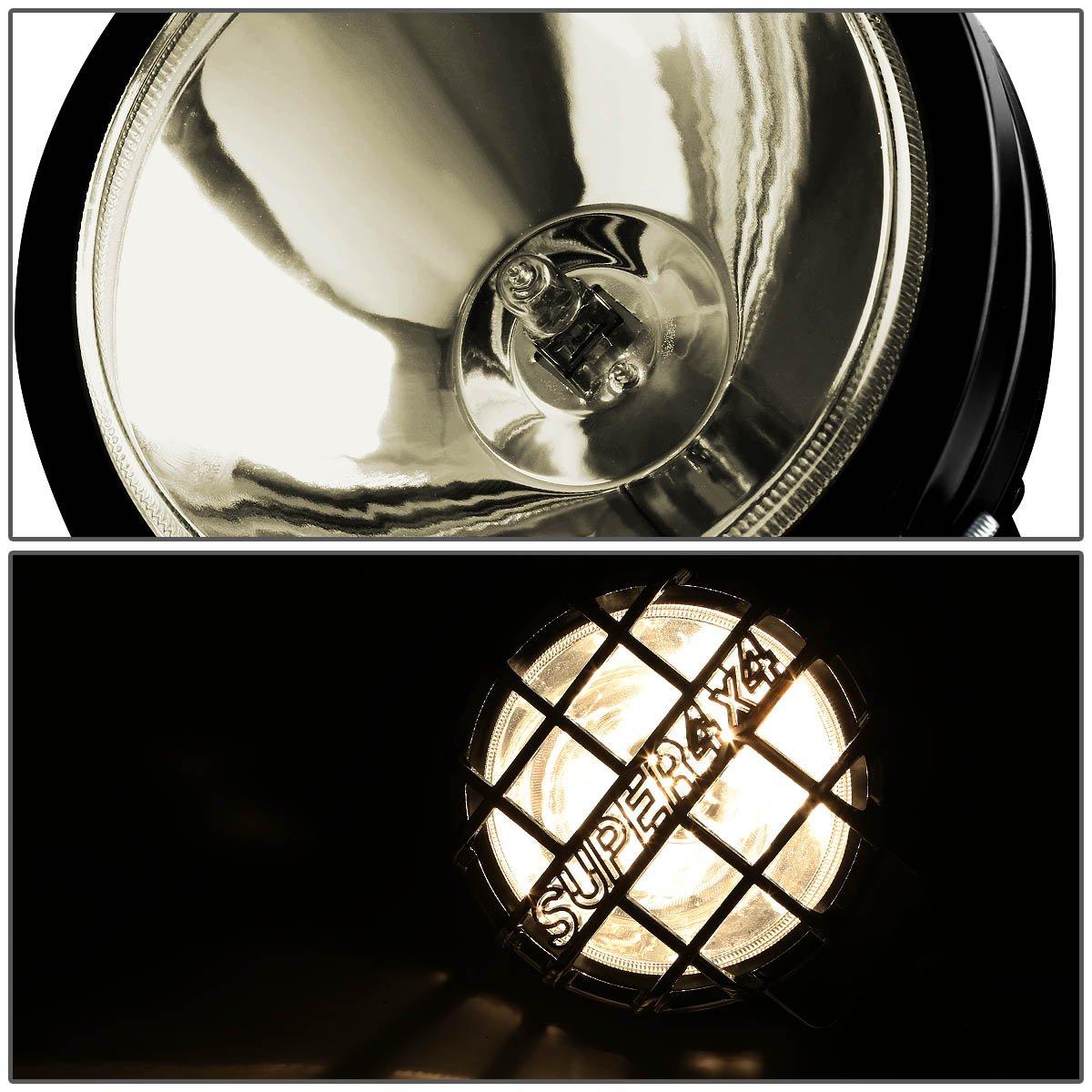 For Ford F150//250//Expedition 3 Black Bull Bar+6 Chrome Housing Clear Lens Fog Lights