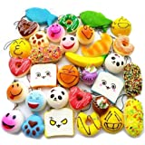 30pcs set random kawaii squishies soft panda bread cake buns phone - Trasfit 20 Pieces Random Mini Squishy Charms Kawaii Soft
