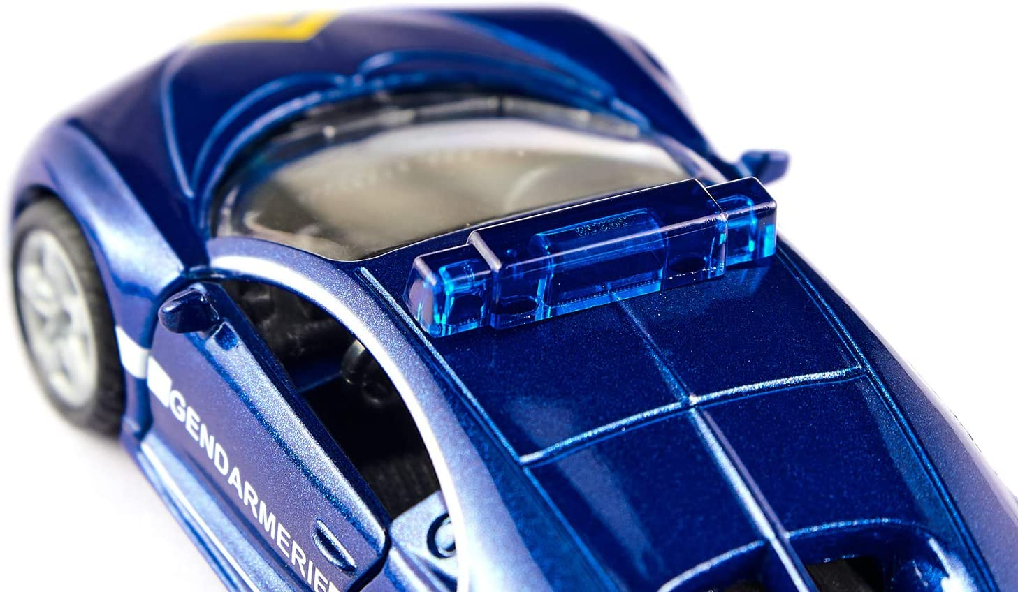Metall//Kunststoff Bereifung aus Gummi Blau Bugatti Chiron Polizeiauto siku 1541 /Öffenbare Motorhaube