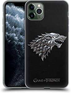 Head Case Designs Officially Licensed HBO Game of Thrones Silver Stark Sigils Soft Gel Case Compatible with Apple iPhone 11 Pro Max
