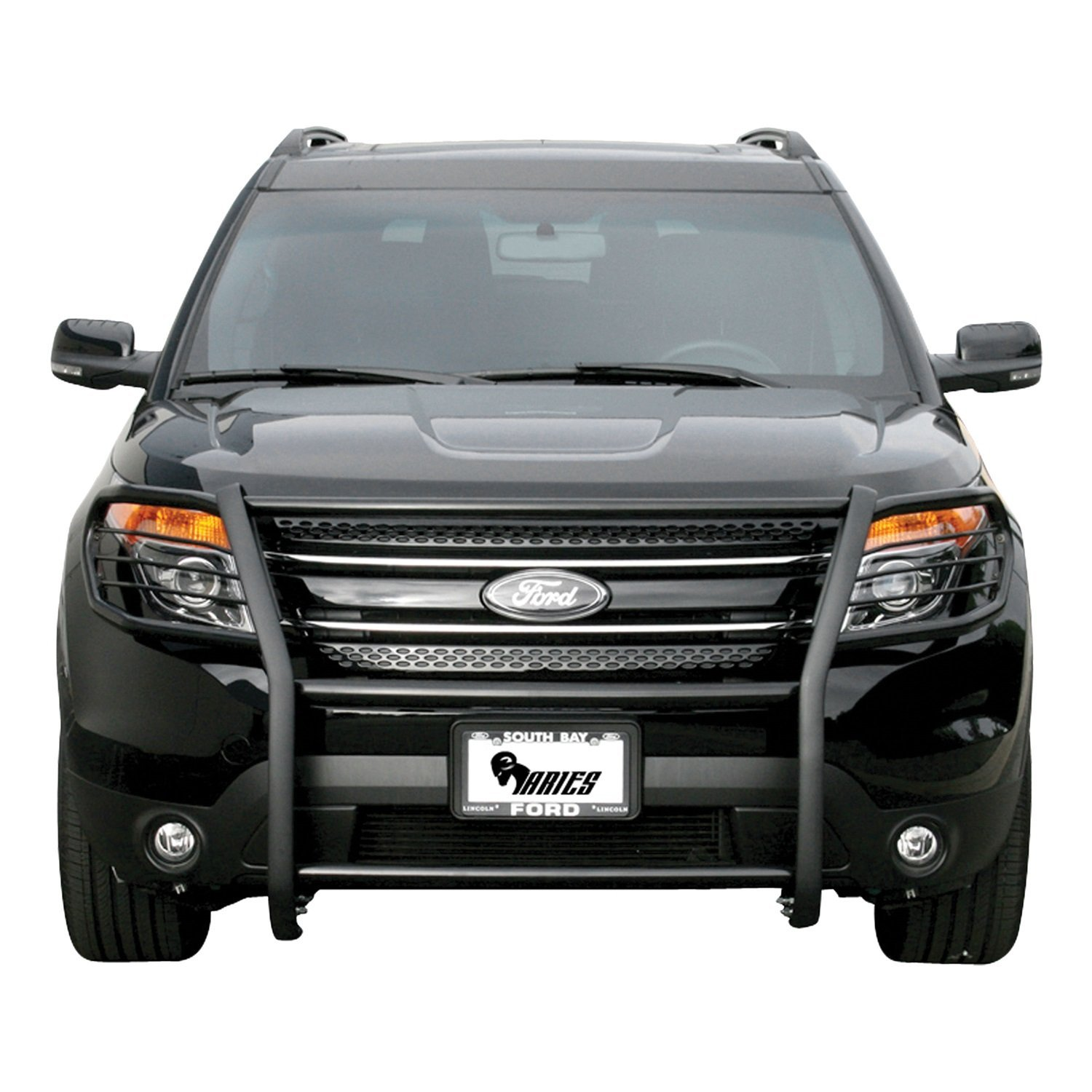 New 2017 ford explorer amazon com aries 3065 black steel grille guard automotive