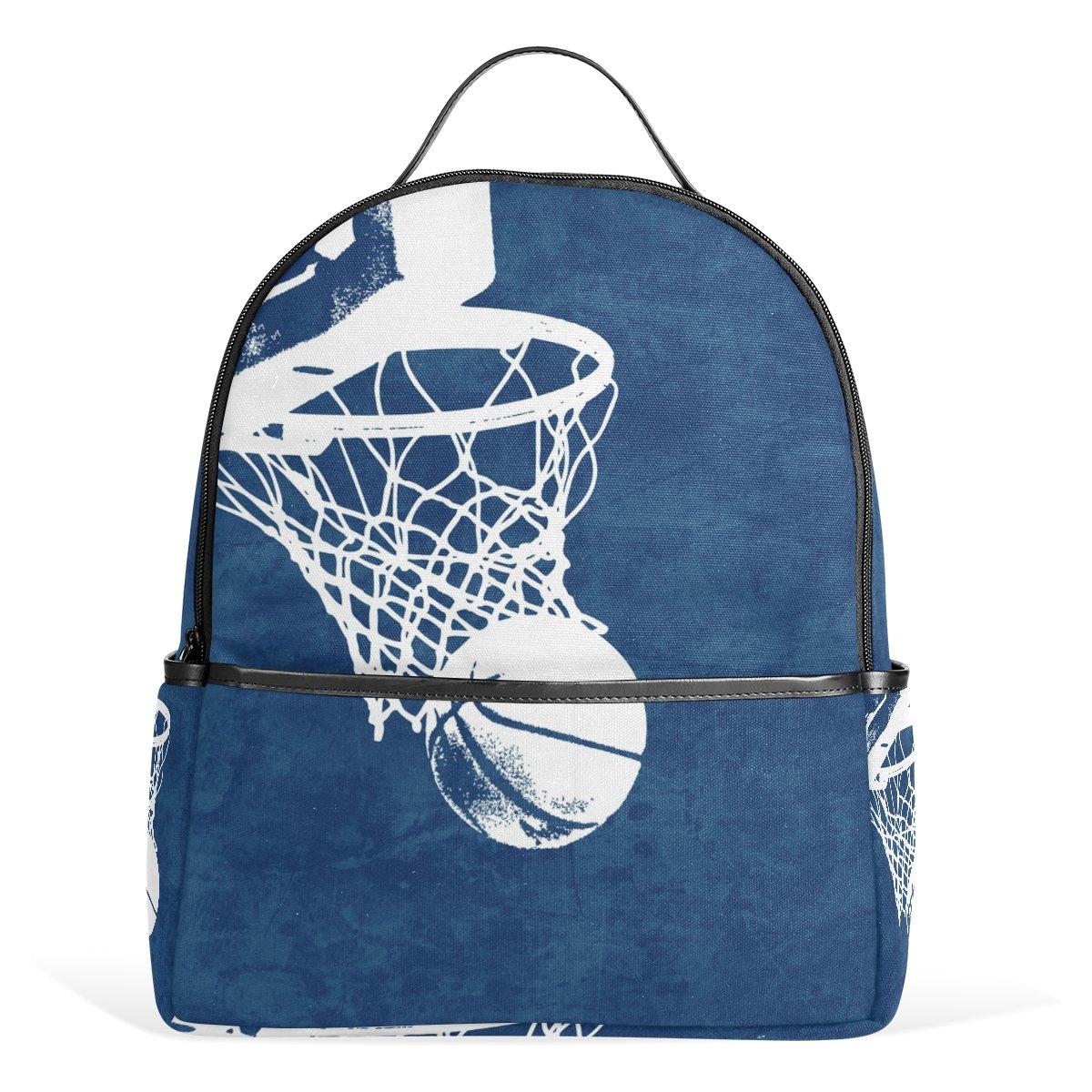 COOSUN Antecedentes de baloncesto Mochila Ligera Escuela de lona ...