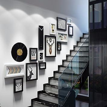 WUXK Cadre moderne et simple escalier mur mur photo combinaison ...