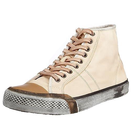 FRYE - Zapatillas de deporte de cuero para hombre, Beige, 40.5: Amazon.es: Zapatos y complementos