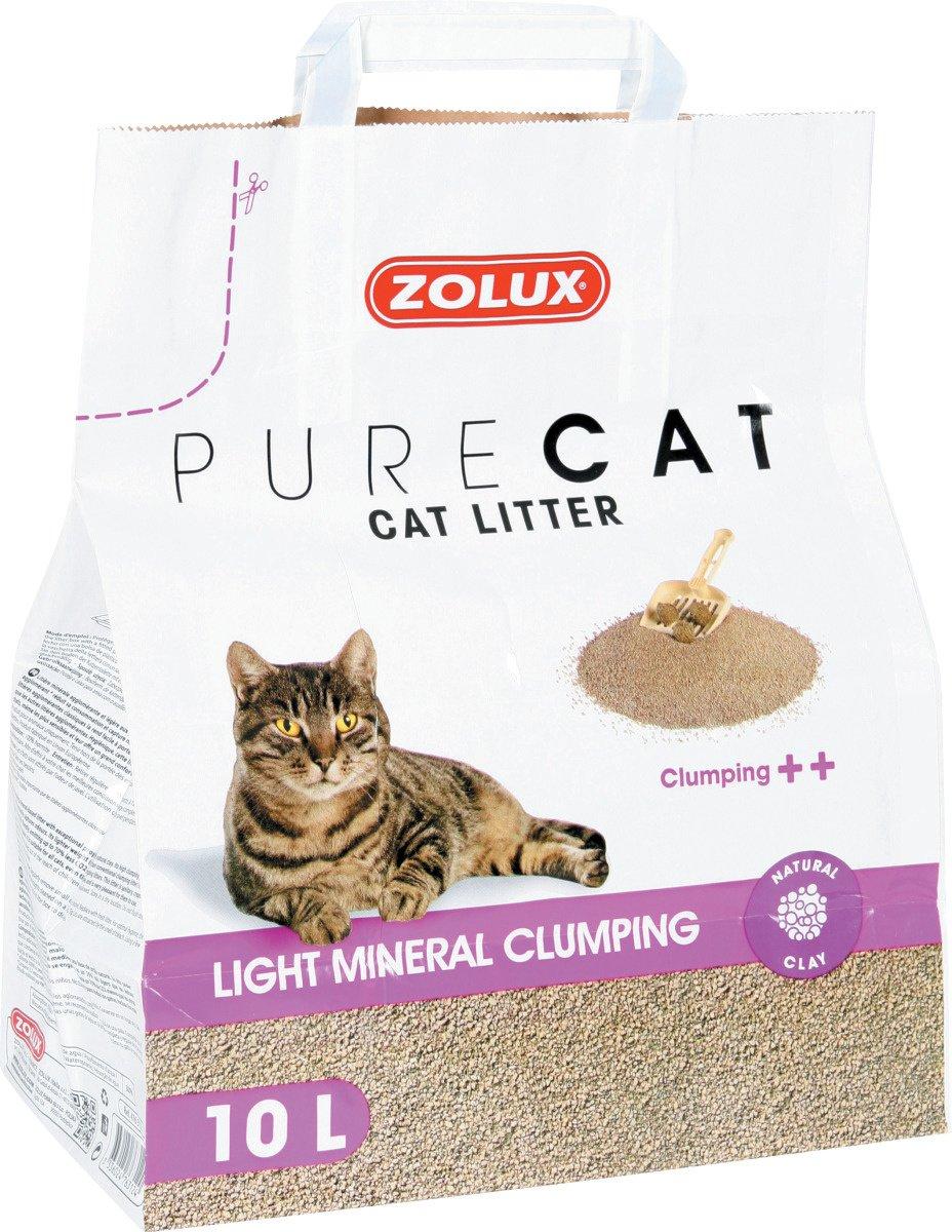 Zolux Litière Chat Pure Cat minérale agglomérante ++ légère 10 L