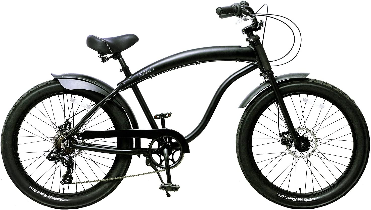 Fito Men s Modena GT 2.0 Aluminum Alloy 7 Speed Beach Cruiser Bike, Black, 18 One Size