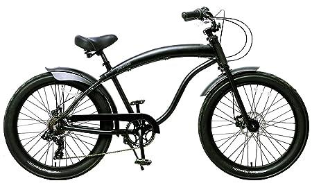 Fito Men s Modena GT 2.0 Aluminum Alloy 7 Speed Beach Cruiser Bike, Black, 18 One Size