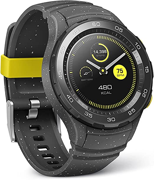 Huawei Watch 2 Sport Smartwatch - Ceramic Bezel - Concrete Grey Strap (US Warranty)