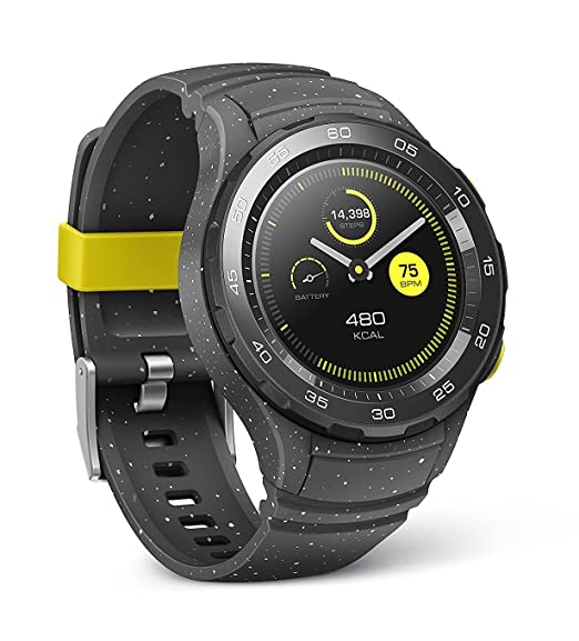 Huawei Watch 2 Sport Smartwatch - Ceramic Bezel - Concrete Grey Strap (US Warranty)