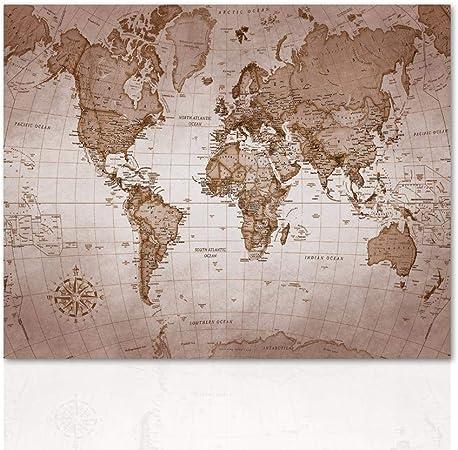 Cartina Geografica Mondo Quadro.Declea Quadro Planisfero Carta Geografica Mondo Quadro Stampa Moderna Pronta Da Appendere Con Telaio In Legno Realizzato A Mano Amazon It Casa E Cucina