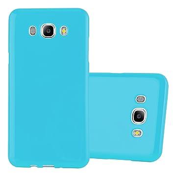 Cadorabo Funda para Samsung Galaxy J5 2015 en Jelly Azul Claro - Cubierta Proteccíon de Silicona TPU Delgada e Flexible con Antichoque - Gel Case ...
