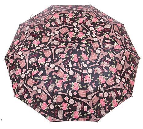 TRADE® Toldo de la impresión de arte a prueba de viento e impermeable paraguas de