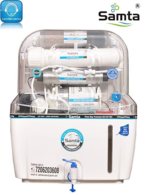 Samta Aqua 14 Stage Ro+Uv+Tds+Uf+4 Mineral Level Water Purifier( 15 Litre)