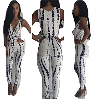 052e112a4b7 New Black and Off White Tie Dye Jumpsuit Catsuit Club Wear Party Evening  Wear Size UK