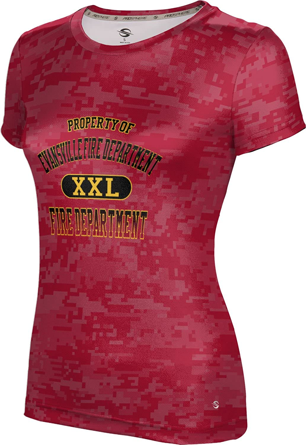 ProSphere Women's Evansville Fire Department Gov-Fire-Police Digital Tech Tee