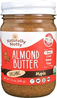 product image for Naturally Nutty Organic Almond Butter 12 oz Jar (Maple)