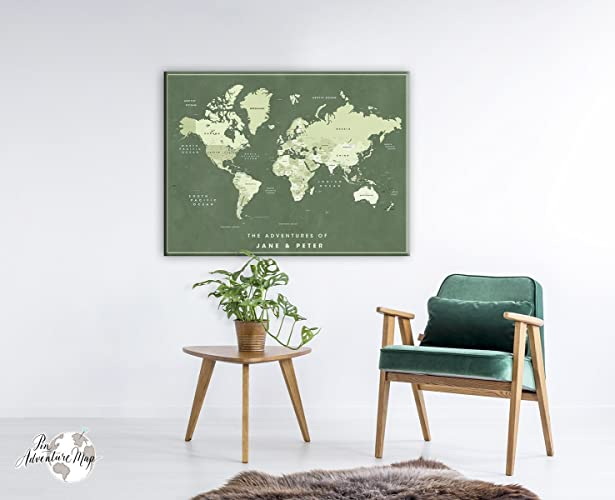 Family world travel map canvas personalized world push pin map family world travel map canvas personalized world push pin map gifts for people who gumiabroncs Gallery