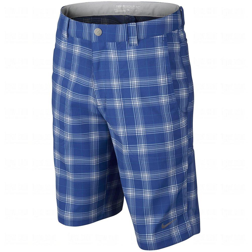 Nike Boy 's Plaid Short XL ブルー B004V9T2IC