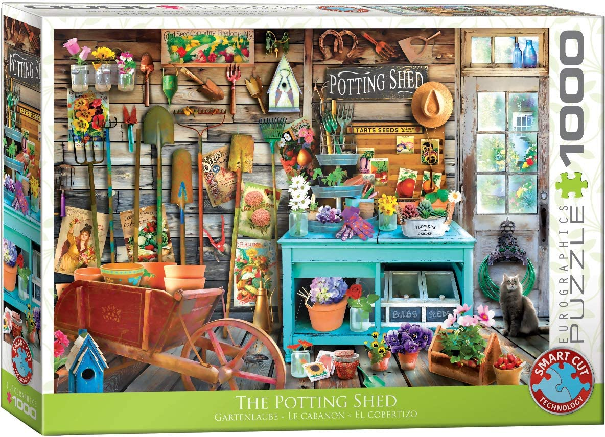 EuroGraphics (EURHR The Potting Shed 1000Piece Puzzle 1000Piece Jigsaw Puzzle