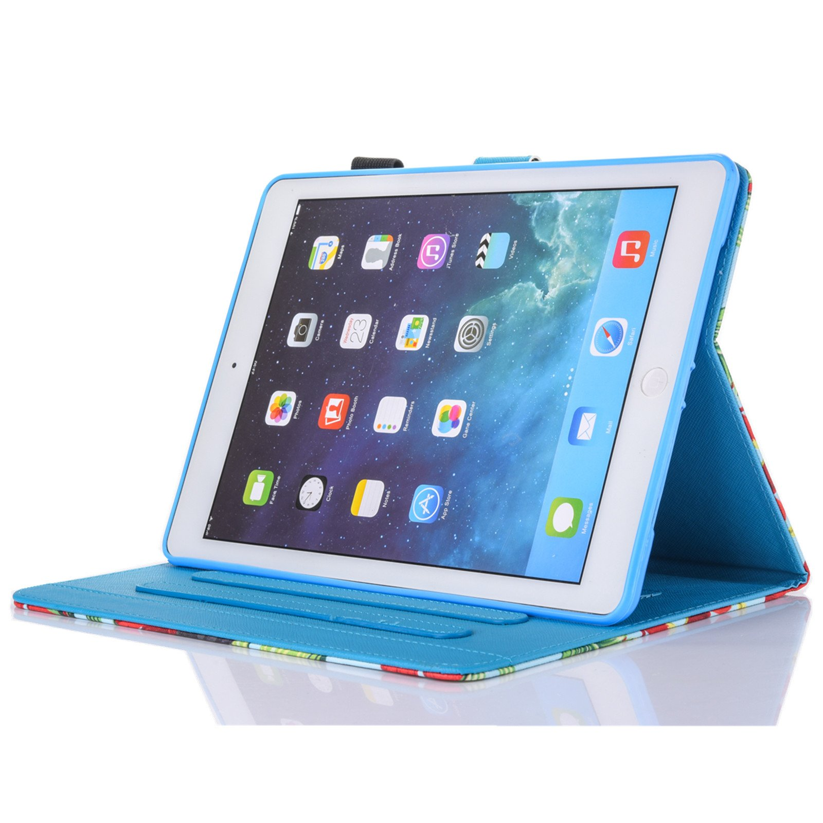 New iPad Case Smart Leather Case - UNOTECH Card Slot Protective Case with Pen Holder Wake/Sleep Function for New iPad 9.7 Inch 2017,iPad Air 1 2, Leopard Cat by UNOTECH (Image #6)