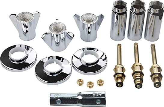 Danco Tub And Shower 3 Handle Remodeling Trim Kit For Sayco Chrome 39620 Faucet Trim Kits Amazon Com