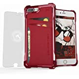 iPhone 7 Plus Wallet Case, Ghostek Exec Series for Apple iPhone 8 Plus Hybrid Impact Bumper | TPU PU Leather Credit Card Slot Holder Sleeve Cover | Shatterproof Screen Protector