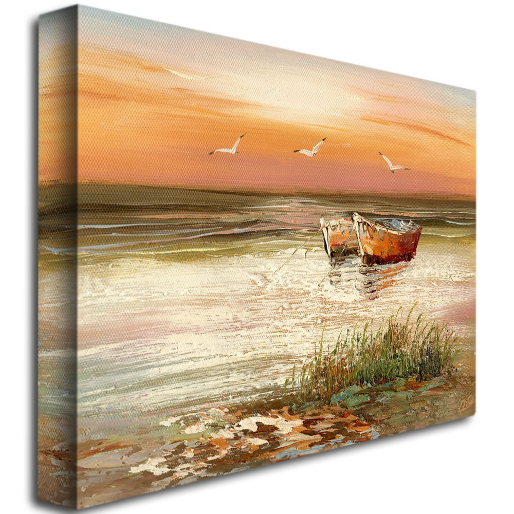 Florida Sunset by Master s Art, 35×47-Inch Canvas Wall Art
